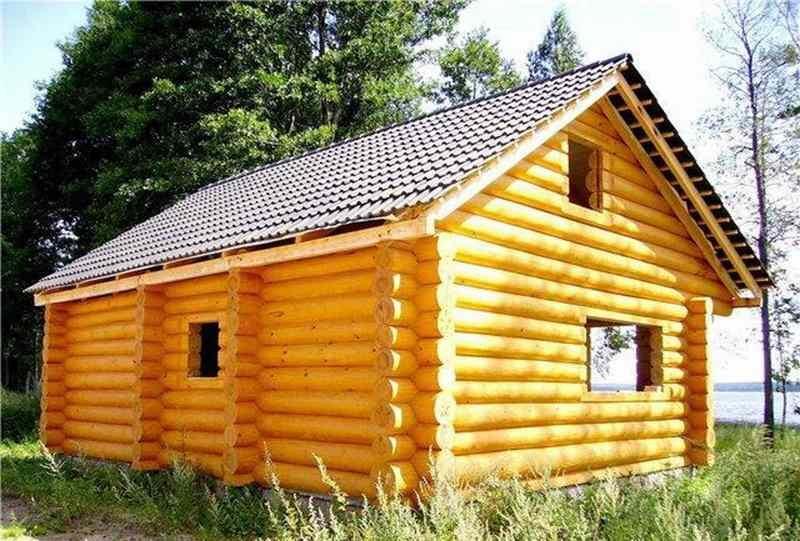 Дом из соснового бревна