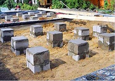 столбчатый фундамент блоки
